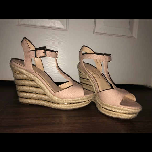 light pink wedges shoes